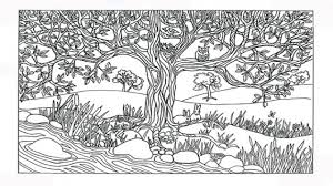 nature colouring pages. Plain Nature Stylish Nature Coloring Pages Best Interior Impressive Printable In Amusing  Scene Tree River For Colouring I
