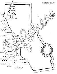 Small Picture California Coloring Page by Doodle Art Alley USA Coloring Pages
