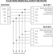 modbus faq plcdev modbus automation direct four wire rs485 network