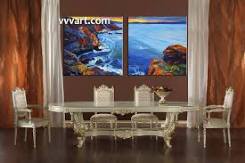 2 piece large pictures ocean dining room wall decor ocean group canvas blue on large art oil painting wall decor canvas with 2 piece blue ocean huge canvas art oil paintings