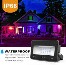 Rgb Led Landscape Lighting Onforu 2 Pack 35w Rgb Led Flood Lights With Remote Control Ip66 Waterproof Dimmable Color Changing Floodlight 16 Colors 4 Modes Wall Washer Light
