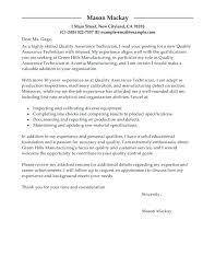 11 12 Quality Assurance Cover Letter Samples Tablethreeten Com