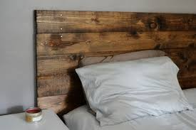 Simple Wooden Headboard Combined With Wooden Bed And 4 Straight Legs  Featuring White Medium