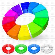Rainbow Pie Chart 3d Rainbow Pie Chart Stock Vector Image