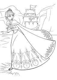 Castello Di Elsa Da Colorare