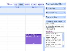 Weekly Calendars With Hours Google Calendar Gadget Weekly Time Counts