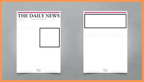 Basic Newspaper Template Blank Newspaper Template Word Old Intended For Article Microsoft