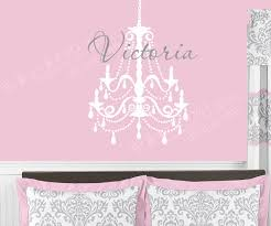 girls name chandelier wall decal