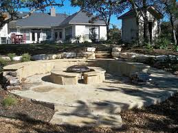 after flagstone patio design