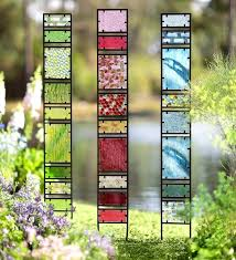 stained glass garden stakes decorative glass garden panes o tall glass garden stakes o beautiful hand