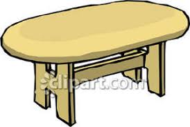 kitchen table clipart. oval shaped dining room table - royalty free clipart picture kitchen r
