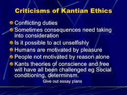 kant 61 criticisms of kantian ethics