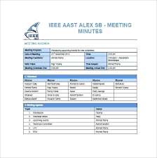 Template Project Meeting Minutes Templates Free Sample Example