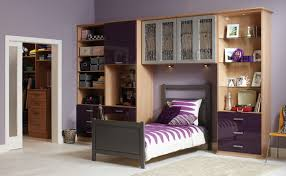 adorable design ideas of teenagers bedroom with grey color wooden built in bed frames and headboard best teen furniture