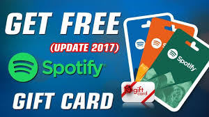 spotify gift card codes spotify free gift cards get spotify premium free redeem code