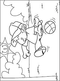 Kleurplaat Basketballen Kleurplatennl