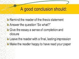 effective conclusion techniques ppt video online 2 a good conclusion