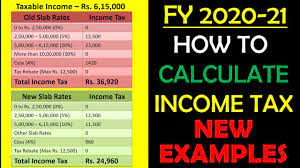 how to calculate ine tax fy 2020 21