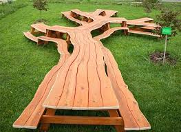 wood logs table coffee
