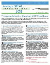 Dental Hygiene Interview Questions Interview Questions For Dental Assistant Atlas
