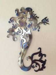 metal mermaid wall art fancy mermaid metal sculpture wall art home by mermaid metal art wall sculpture