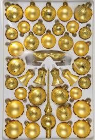 Christbaumschmuck Sortiment Eleganz 39 Teilig Weihnachtsbaumschmuck Gold Matt Mit Goldglimmer