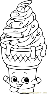 Ice Cream Dream Shopkins Printable Coloring Page For Kids And Adults