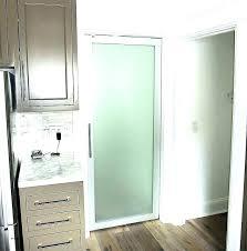 frosted glass closet door interior doors half fridge home froste