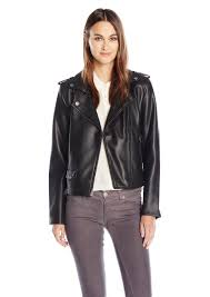 lucky brand women s faux leather bonded moto jacket s
