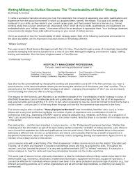 army to civilian resumes military to civilian resume examples military to civilian resume