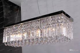rectangular crystal chandelier in llfa98 k9 led rectangle led lamps modern ceiling ideas 9
