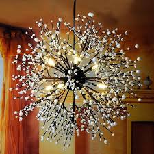 black chandelier clothing crystal pendant lights snow clothing coffee room living room industrial wind fireworks black chandelier clothing