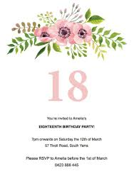 Invitation Free Templates 007 Floral Birthday Invitation Template Free Templates
