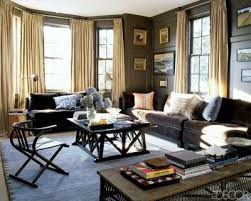 Image detail for -Large brown couch, grey and blue decor / For the home