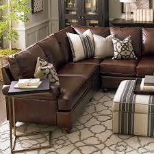 American Casual Montague Large L-Shaped Sectional. Dark Brown Leather SofaDark  ...