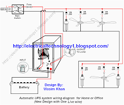 air conditioning system diagram. automatic ups system wiring circuit diagram for home or office air conditioning