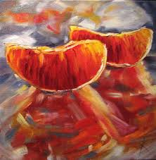 abstract fruit paintings these 3 fruit paintings sold