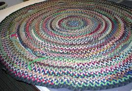 unraveled braided rug repair b