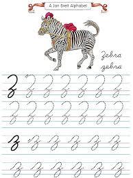 alphabet tracers z cursive