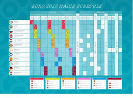 Seville na new euro 2020 host city. Euro 2020 Football Championship Match Schedule With Flags Euro 2020 Timetable For Web And Print High Quality Vector Illustration Stock Vector Image Art Alamy