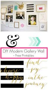Free Wall Printables Diy Modern Gallery Wall