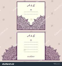 folded wedding invitation template cutout suitable for vector diy pocketfold