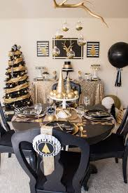 White And Gold Decor Black And Gold Christmas Party Printable Party Lillian Hope