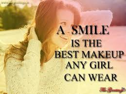 a smile is best makeup for a