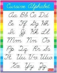 Printable Cursive Worksheets Ve Cute Alphabet Chart Letters