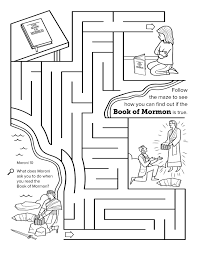 Small Picture I Have Read The Book Of Mormon Lds Primary Coloring PagesHave