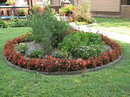 Small Picture Enticing Simple Garden Design Concept Having Circle Edges Layering