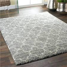 lofty trellis plush area rug gray ivory x polypropylene 10x10 10 rugs square
