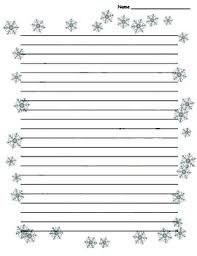 Winter Snowflake Border Lined Paper Paper Snowflakes