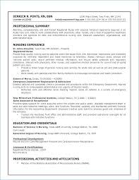 Resume Format For Nurses